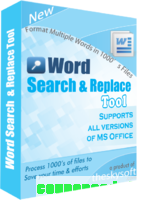 Word Search and Replace Tool discount coupon
