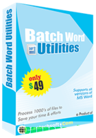 Batch Word Utilities discount coupon