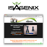 Isagenix Product B Page ~ Yearly Subscription discount coupon
