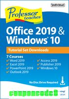 Professor Teaches® Office 2019 & Windows® 10 discount coupon
