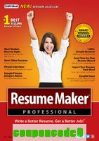 ResumeMaker Professional Deluxe 20 discount coupon
