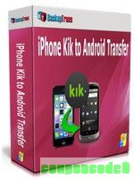 Backuptrans iPhone Kik to Android Transfer (Family Edition) discount coupon