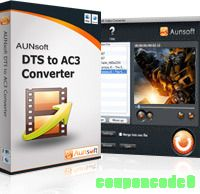 Aunsoft DTS to AC3 Converter for Mac discount coupon