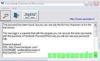 Facebook Password Recovery discount coupon