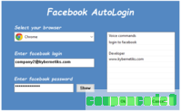 Facebook AutoLogin discount coupon