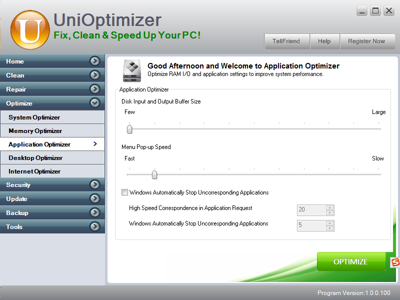application optimizer