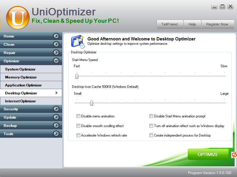 desktop optimizer